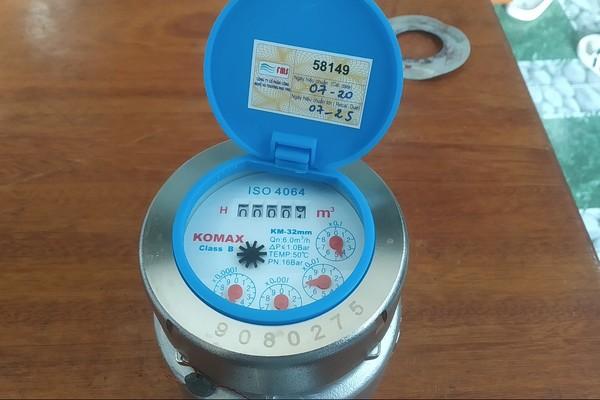 Đồng hồ nước Komax nối ren