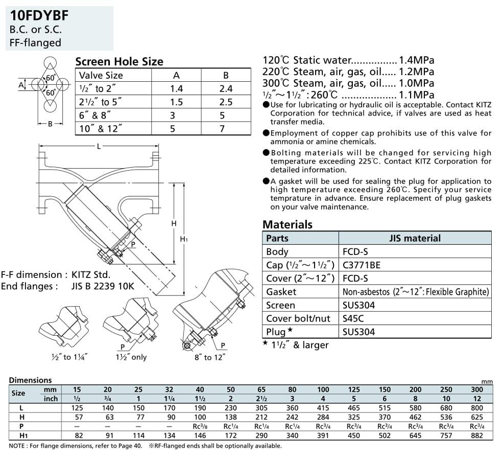 Lọc Y 10K - 10FDYBF - Kitz
