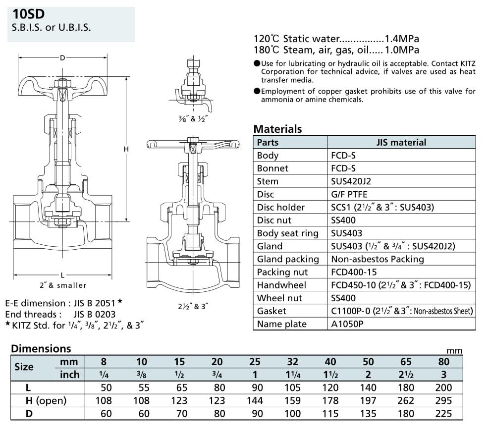 Van cầu 10K - 10SD - Kitz