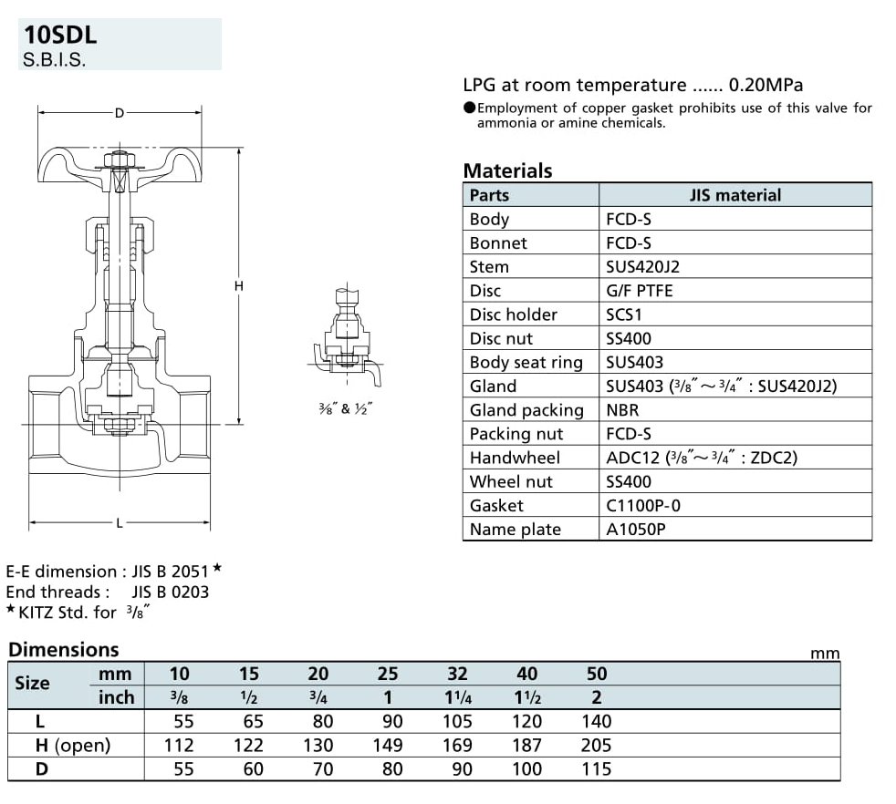 Van cầu - 10K - 10SDL - Kitz