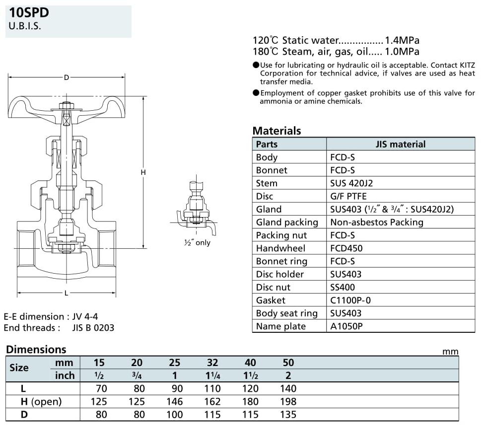 Van cầu 10K - 10SPD - Kitz