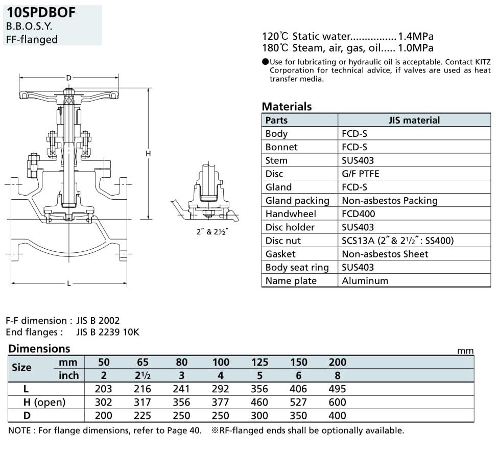 Van cầu 10K - 10SPDBOF - Kitz