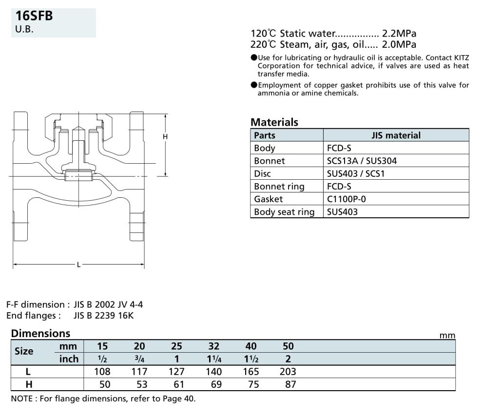 Van một chiều 16K - 16SFB - Kitz