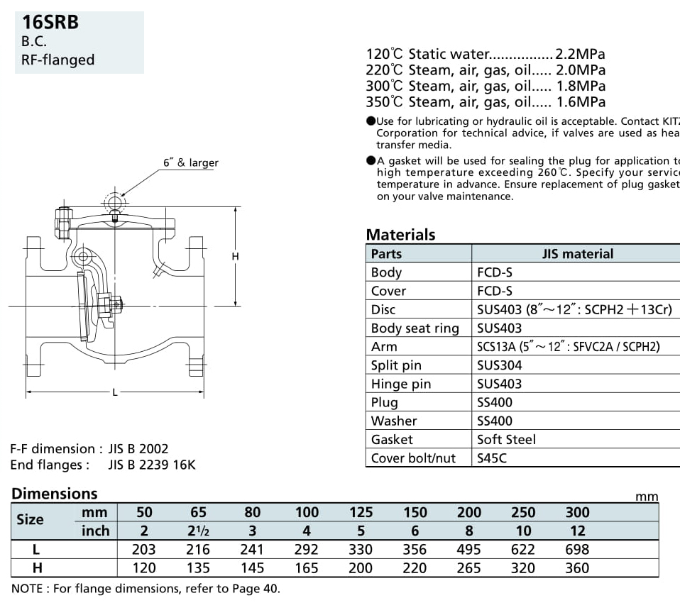 Van cầu 16K - 16SRB - Kitz